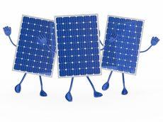Placas solares animadas