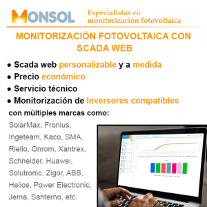 Monitorización fotovoltaica con Scada web